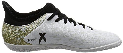 adidas X 16.3 In J, Botas de Fútbol para Niños Blanco (Ftwbla / Negbas / Dormet)