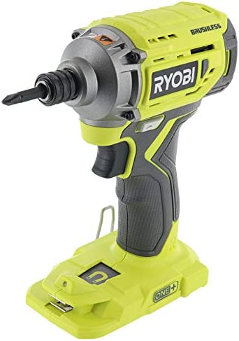 Ryobi P239 18V Lithium Ion Brushless Cordless 2,000 Inch Pound Impact Driver w Magnetic Bit Tray and LED Lighting Battery Not Included Power Tool Only