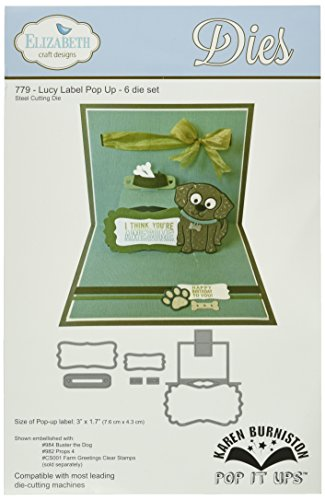 Elizabeth Craft Designs Pop It Up Metal Dies by Karen Burniston, Lucy Label Pop Up by Elizabeth Craft Designs