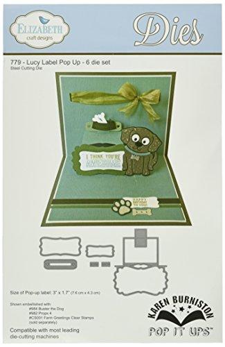 Elizabeth Craft Designs Pop It Up Metal Dies by Karen Burniston, Lucy Label Pop Up by Elizabeth Craft Designs