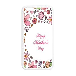 Happy Mother's Day Case/Cover FOR Apple iphone 6 5.5 (Laser Technology) - Black/WHITE - Rubber Case