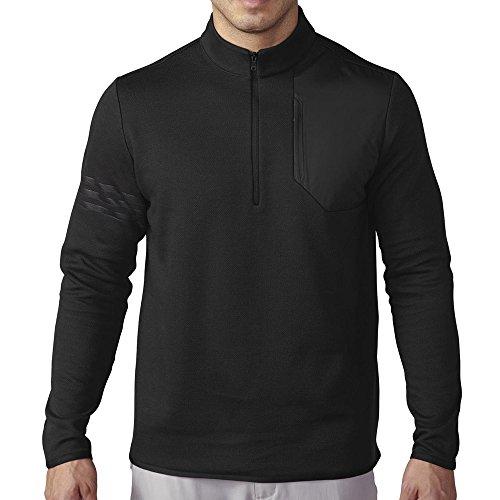 - adidas Golf Men's Club Performance 1/2 Zip Sweater, Black Heather, Medium