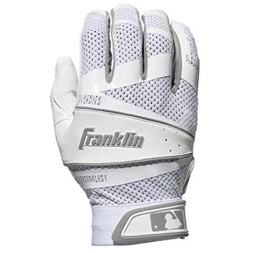 Womens Glove Fastpitch Batting (Franklin Sports Fastpitch Freeflex Series Batting Gloves - White/White - Women's Medium)