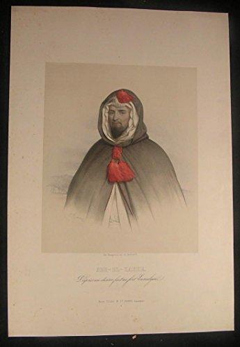 abd-el-kader-abdelkader-el-djezairi-1850-antique-color-lithograph-portrait-print