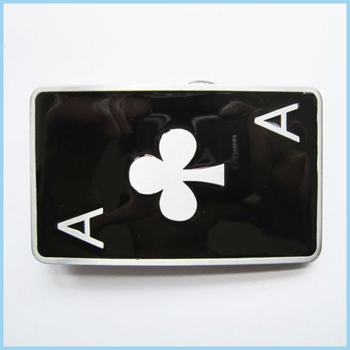 Casino Poker Spades a Playing Card Belt Buckle Cs-010 - Playing Cards Belt Buckle