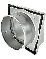 """Spares2go acero inoxidable capucha externa Extractor pared de ventilación de salida con espuma tipo Retorno trampilla (150 mm, 6"""")"""