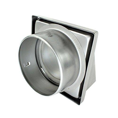 Spares2go acero inoxidable capucha externa Extractor pared de ventilació n de salida con espuma tipo Retorno trampilla (150 mm, 6') 6)