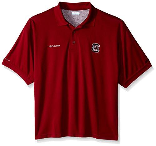 Columbia Sportswear Perfect Cast - NCAA South Carolina Fighting Gamecocks Collegiate Perfect Cast Polo Shirt, Beet, X-Large