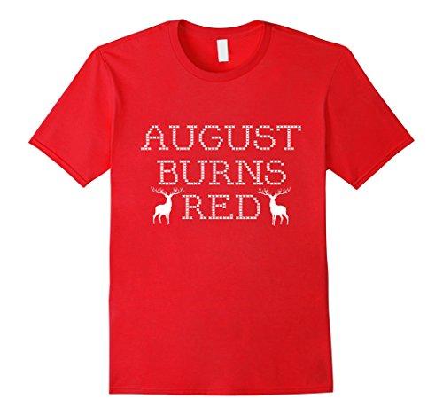 Mens August Burns Red T-Shirt Medium Red - August Burns Red Christmas