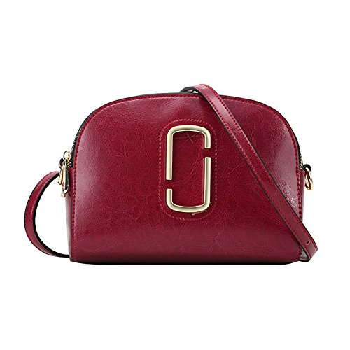 Purple Bag shouder Square Leather bag Small Crossbody Women's Red Iq0xvCawE