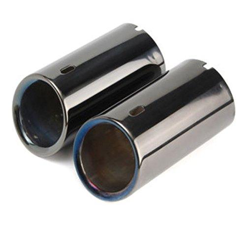 2x cola muffer Tubo de escape punta titanio negro para BMW E90E92325328i serie 3por greenmarkets