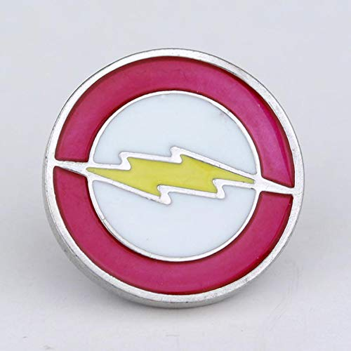 Movie Jewelry Flash Brooch Pin Badge Emblem Corsage Red Yellow Enamel Lapel Men Pins Hat Tie Tack