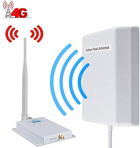 Cell Phone Signal Booster AT&T 4G LTE Signal Booster ATT T-Mobile Cell Signal Amplifier Indoor HJCINTL FDD 700Mhz Band 12/17 High Gain Mobile Phone Signal Repeater Booster for Home