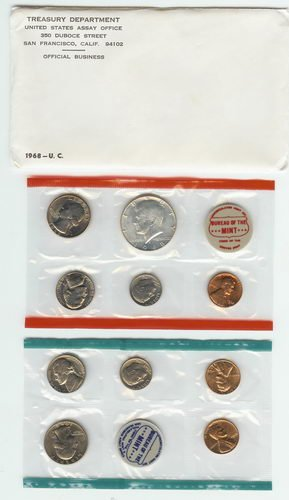 1968 Complete United States US Mint Coin Set ()
