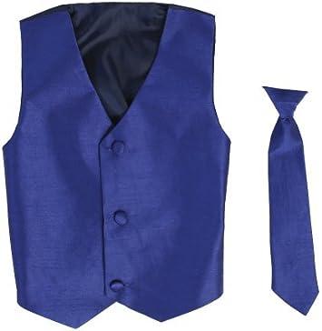 Chaleco y Clip On Boy corbata Conjunto – Royal – 8/10 color: azul ...
