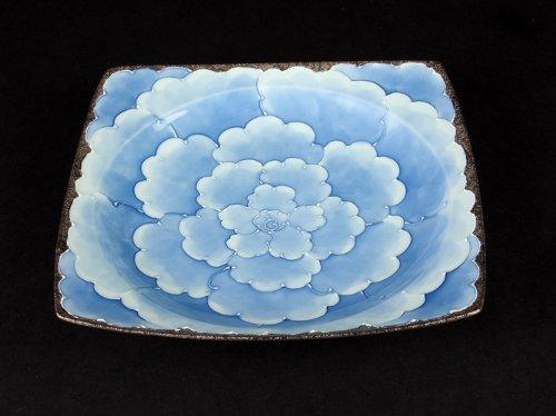 Platinum Peony Fashion Case (Blue) Medium Bowl