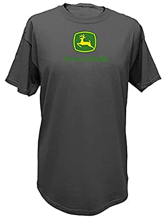 John Deere Basic Logo T-Shirt - Charcoal (X-Large)