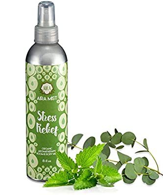Aira Room Spray - Organic Spray Base with Therapeutic Grade Essential Oil Blends. No Alcohol, Chemicals, Parabens.