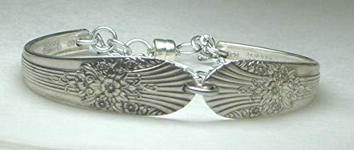 - Silverware Bracelet Marigold Pattern Silver Plate