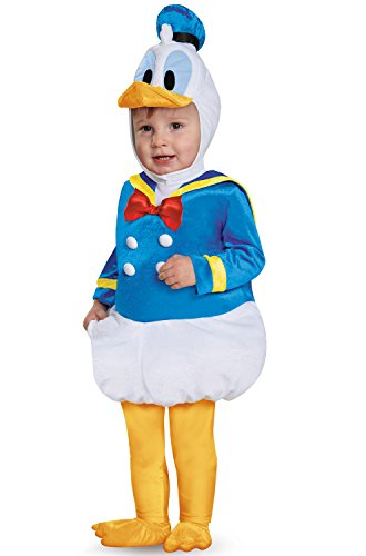 Disguise Baby Boys' Donald Duck Prestige Infant Costume, Blue, 12-18 (Donald Duck Halloween Costume)