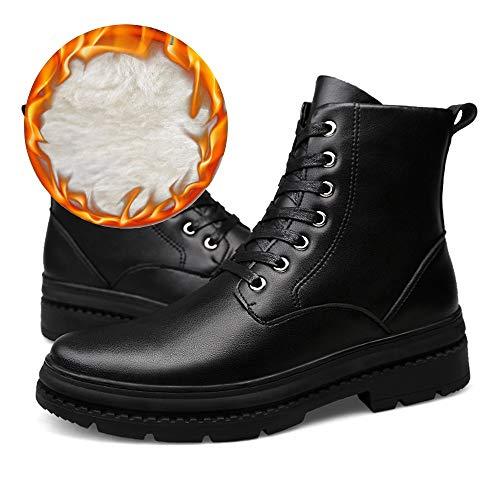 shoes shoes Stivaletti Martellata Uomo Moda Black 46 Warm Stivali Stivali Tomaia Velluto Color Impermeabile Shufang da Warm Black con Opzionale Casual Matte alla EU Dimensione dv5wq