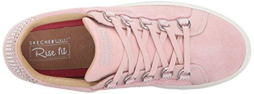 Street Pink Women Skechers Side Street Fashion Light Rhinestone 10WBtnwW