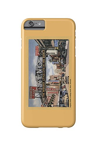 Reno, Nevada - South View of Virginia Street, Famous Reno Sign (iPhone 6 Plus Cell Phone Case, Slim Barely - Virginia Reno