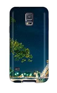 3987582K57945324 premium Phone Case For Galaxy S5/ Paris Eiffel Tower Tpu Case Cover