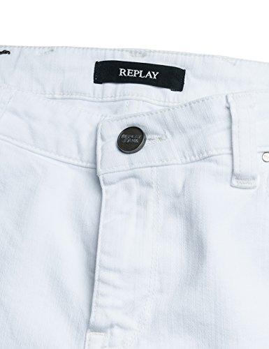 1 White para Jeans Ajustados Blanco REPLAY Mujer Katewin xwPRqng6
