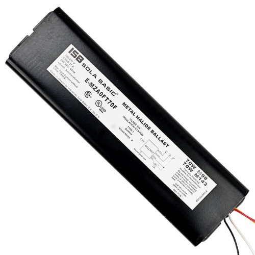 Rating 194 Deg 120//277 Volt 70 Watt ANSI M98 Sola E-MZA0FT70F Power Factor 90 F-Can Temp Pulse Start Metal Halide Ballast Max F