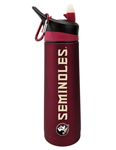 The Fanatic Group Florida State University Dual Walled Stainless Steel Sports Bottle, Design 1 - Burgundy