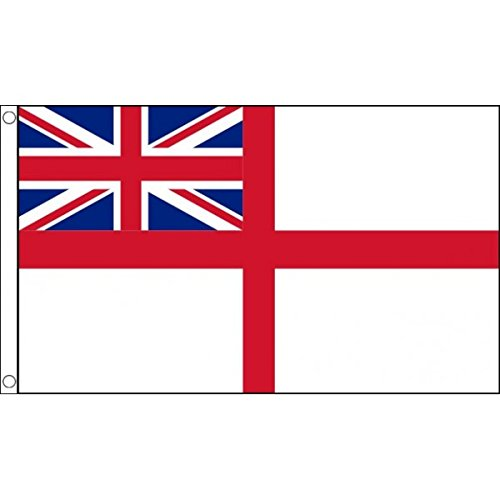 - AZ FLAG White Ensign Flag 3' x 5' - St George's - British Royal Navy Ships Flags 90 x 150 cm - Banner 3x5 ft