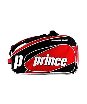 PALETERO PRINCE PADEL WARRIOR CLUB ROJO NEGRO: Amazon.es ...