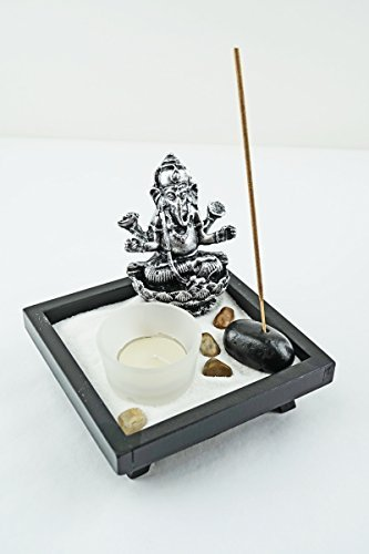 Tabletop Incense Burner Gifts & Decor Zen Garden Kit with Statue Candle Holder ~ USA SELLER!! (Ganesha small) from 6goodeals