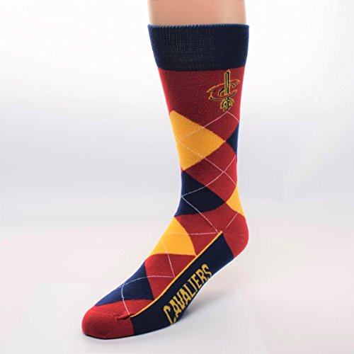 For Bare Feet Cleveland Cavaliers Logo Mens Argyle Socks - One Size Fits Most