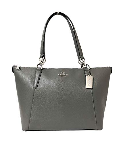 Coach AVA Leather Shopper Tote Bag Handbag (SV/Heather Grey) ()