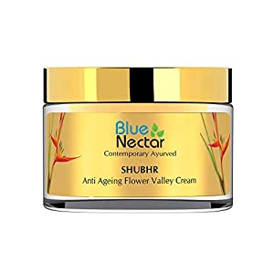 Blue Nectar Anti Ageing Flower Valley Face Cream Ayurvedic with No Parabens SLS or Mineral Oil (Women, 50 gm)