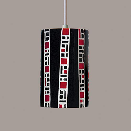 A19 Lighting PM20310-BL-WCC 1-Light Ladders Pendant Black (White Cord & Canopy) ()