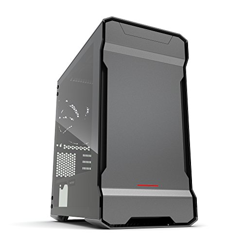 Phanteks PH-ES314ETG_AG EVOLV mATX Tempered Glass Edition Aluminum Exterior RGB LED Illumination Micro Tower Case Gray by Phanteks