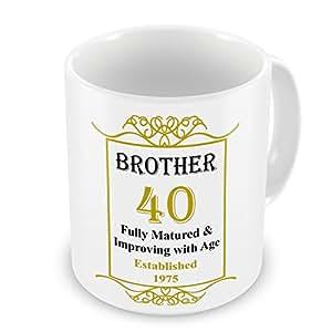 Hermano 40th cumpleaños establecido 1975 años cardioversión - oro