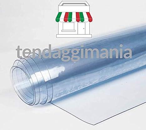 PVC transparente plastificado cristal 100% impermeable, varios usos, altura del rollo 135 cm, doble grosor, venta por medio metro lineal