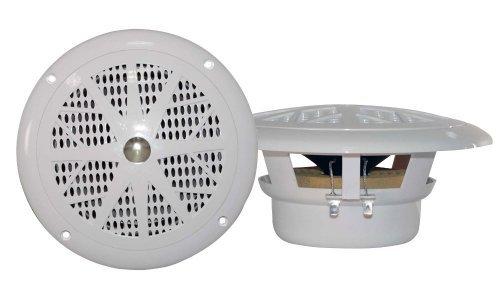 4  Pyle Plmr41w 4  100W Marine Waterproof Boat Car Audio Stereo Speakers White