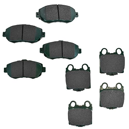Front & Rear Premium Posi Ceramic Disc Brake Pad Set for Lexus IS300 GS300 GS400 SC430 GS430 (Pads Is300 Brake)