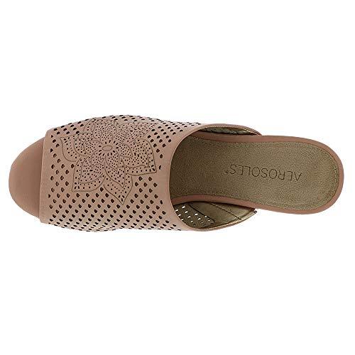 Bitmap Light Aerosoles Leather Slide Sandal Women's Pink 1xqawB4