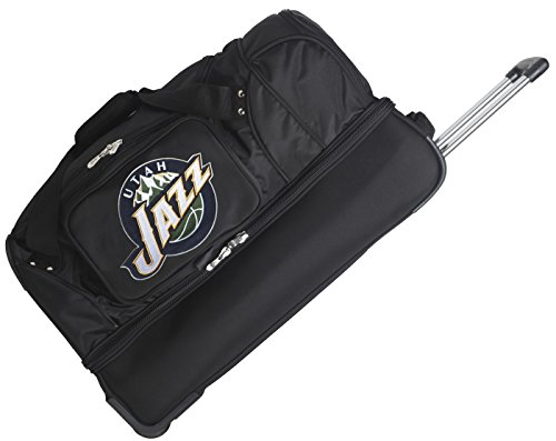 NBA 27'' 2-Wheeled Travel Duffel NBA Team: Utah Jazz by Denco Sports Luggage