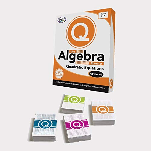 Didax Educational Resources The Algebra Game: Quadratic Equations Advanced Educational - Algebra Game