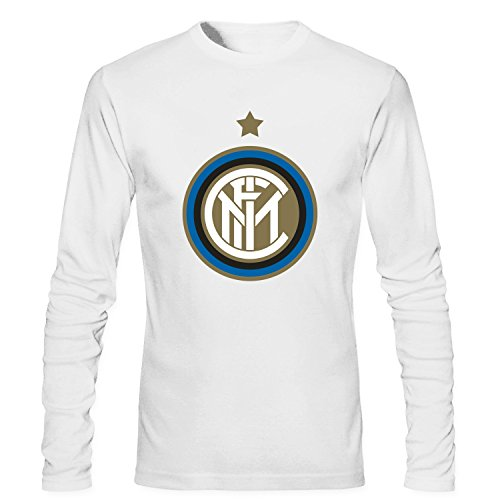 MVYE Men's Inter Milan 6e6 Long Sleeve T Shirt Cotton white S