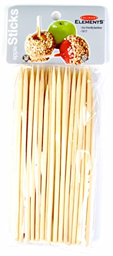 Culinary Elements Bamboo Candy and Caramel Apple Sticks for 50 Individual Servings, 2-pack (100 Sticks in total)