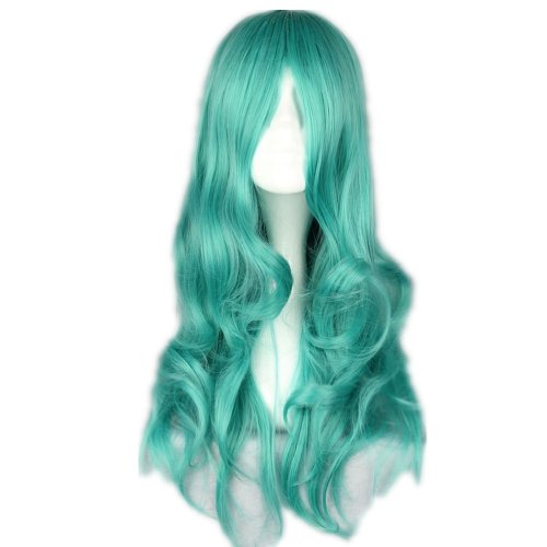 Price comparison product image COSPLAZA Cosplay Wigs 65cm Long Wavy Halloween Fashion Anime Hair Synthetic Wig