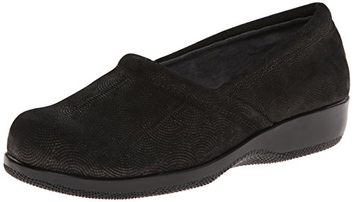 Women's Gold SoftWalk Flat Adora Black BxxUAH